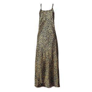 VICTORIA'S SECRET Leopard Silky Satin Maxi Slip S